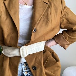 VINTAGE/ mustard oversized blazer